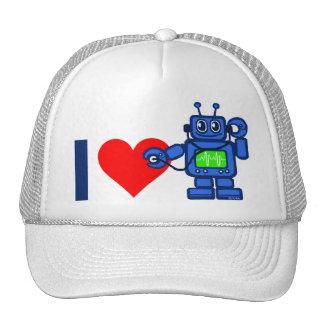 I heart robot cap