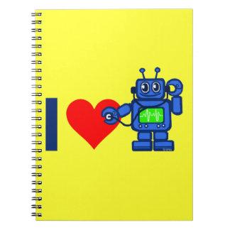 I heart robot notebook