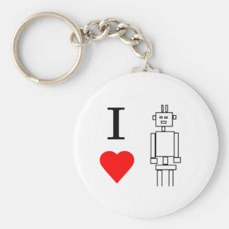 i heart robots key ring