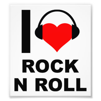 I Heart Rock Funny Poster Photograph