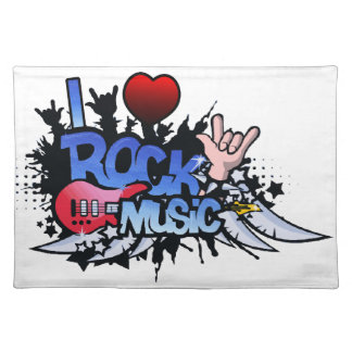 I Heart Rock Music Placemat