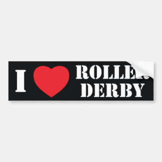 I heart Roller Derby Bumper Sticker