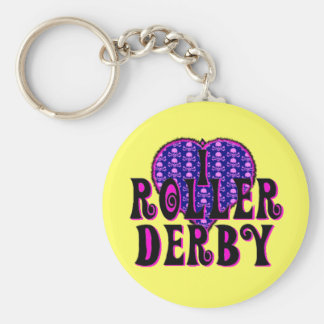 I heart roller derby key ring