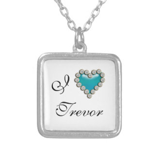 I heart romantic name necklace