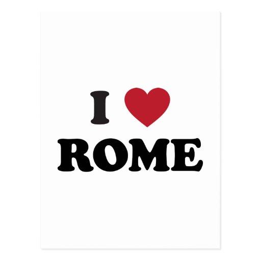 I Heart Rome Italy Postcard