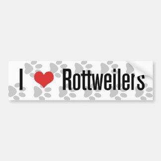 I (heart) Rottweilers Bumper Sticker