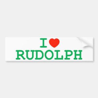 I Heart Rudolph Bumper Sticker