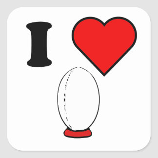 I Heart Rugby Stickers