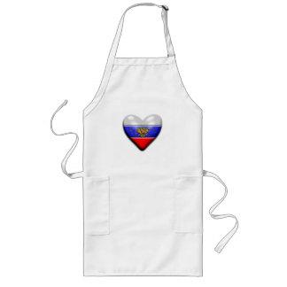 I Heart Russia Long Apron