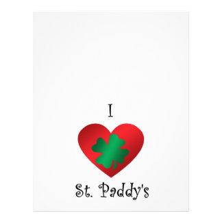 I heart Saint paddy s Flyers