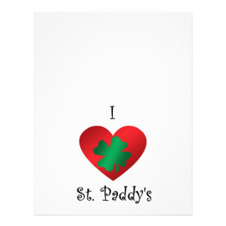 I heart Saint paddy s Flyers