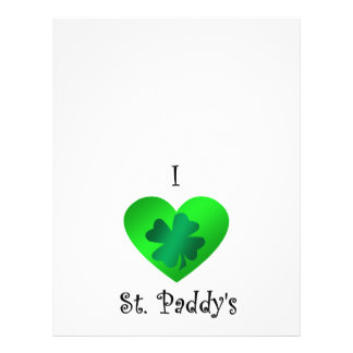 I heart Saint paddy s Personalized Flyer