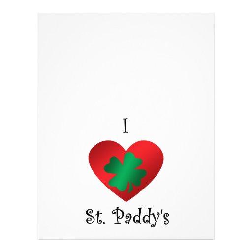 I heart Saint paddy's Flyers