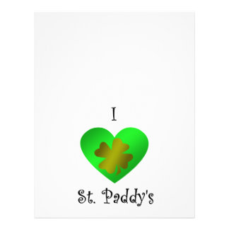 I heart Saint paddy's in gold and green Custom Flyer