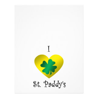 I heart Saint paddy's in green and gold Flyer