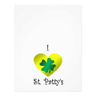 I heart Saint patty s in green and gold Personalized Flyer