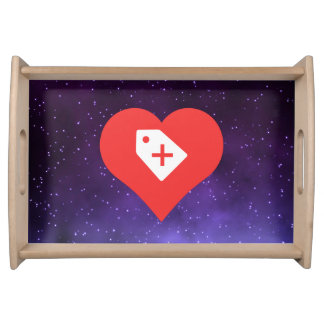 I Heart Sales Icon Service Tray