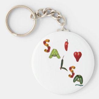 I Heart Salsa Basic Round Button Key Ring