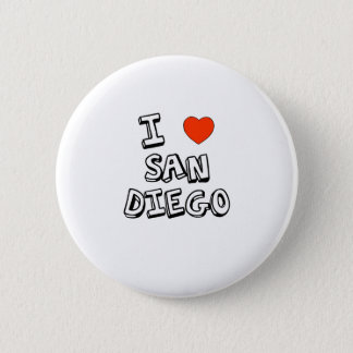 I Heart San Diego 6 Cm Round Badge