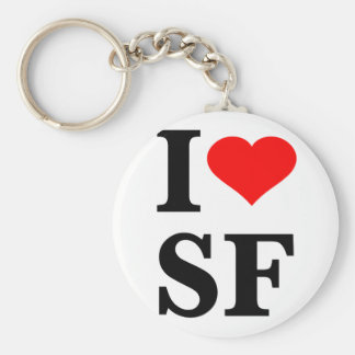 I Heart San Francisco Basic Round Button Key Ring