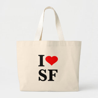 I Heart San Francisco Jumbo Tote Bag