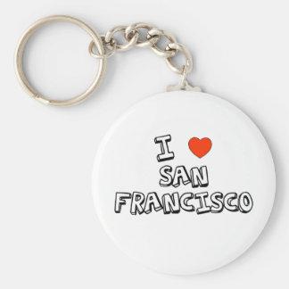 I Heart San Francisco Basic Round Button Key Ring