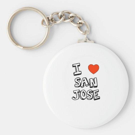 I Heart San Jose Basic Round Button Key Ring