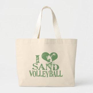 I Heart Sand Volleyball Jumbo Tote Bag