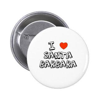 I Heart Santa Barbara 6 Cm Round Badge