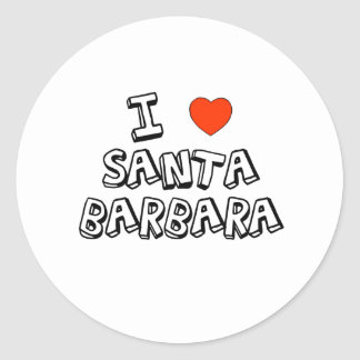 I Heart Santa Barbara Classic Round Sticker