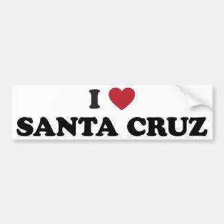 I Heart Santa Cruz Bumper Sticker