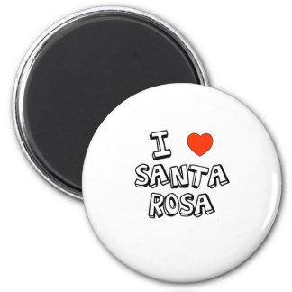 I Heart Santa Rosa 6 Cm Round Magnet