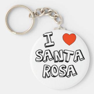 I Heart Santa Rosa Basic Round Button Key Ring