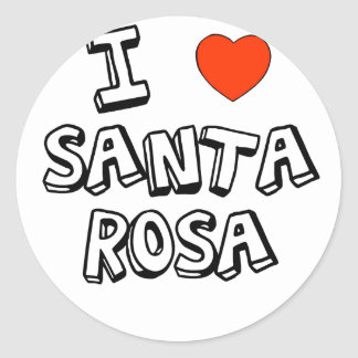 I Heart Santa Rosa Round Sticker