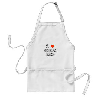I Heart Santa Rosa Standard Apron