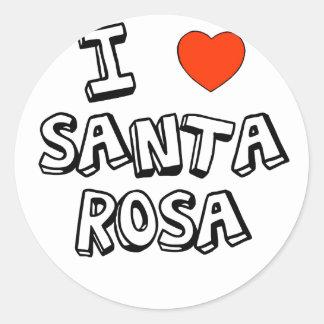 I Heart Santa Rosa Classic Round Sticker