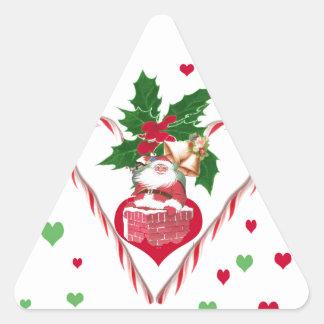 I Heart Santa Triangle Sticker