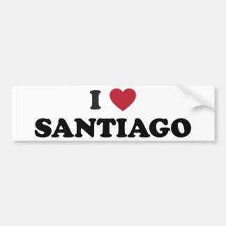 I Heart Santiago Chile Bumper Sticker