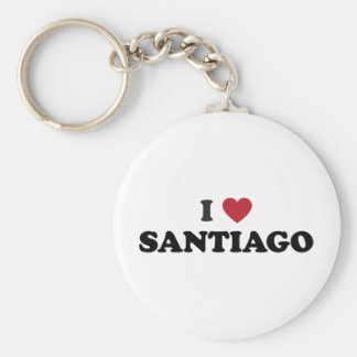 I Heart Santiago Chile Keychains