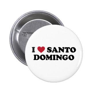 I Heart Santo Domingo Dominican Republic 6 Cm Round Badge