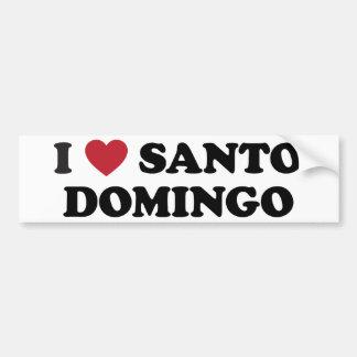 I Heart Santo Domingo Dominican Republic Bumper Stickers