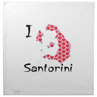 I heart Santorini Napkin