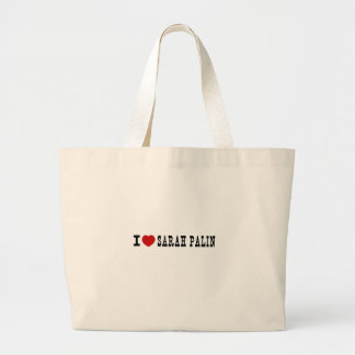 I (Heart) Sarah Palin Large Tote Bag