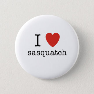 I Heart Sasquatch 6 Cm Round Badge