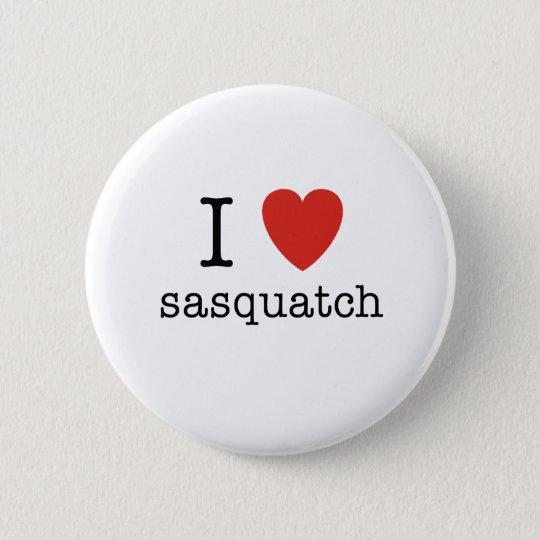 I Heart Sasquatch 6 Cm Round Badge