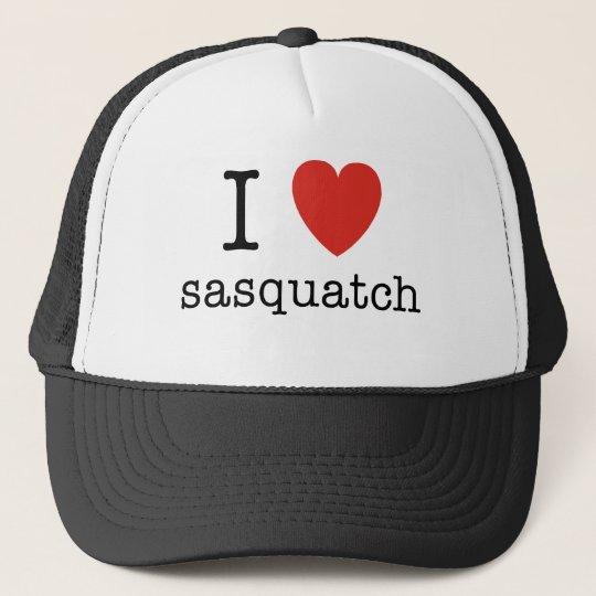 I Heart Sasquatch Trucker Hat