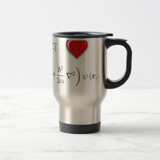 I heart Schrodinger equation Travel Mug