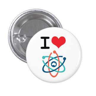 I Heart Science - 3 Cm Round Badge