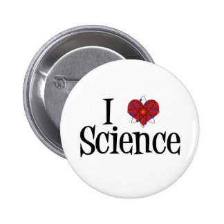 I Heart Science 6 Cm Round Badge