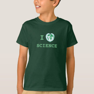 I Heart Science Kids Shirt STEAM Future Scientist